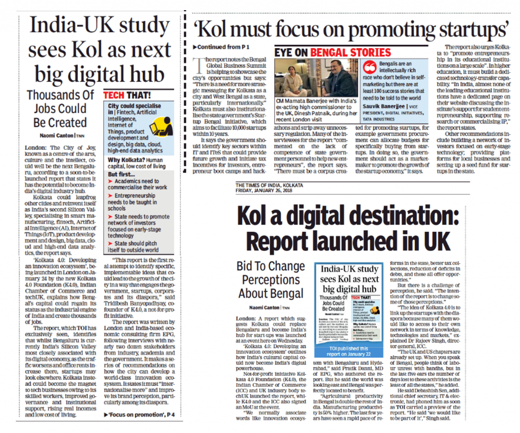 New Report Says Kolkata Can Become A Broad-based Industry